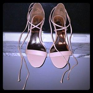 Madden girl nude wrap heel 8.5